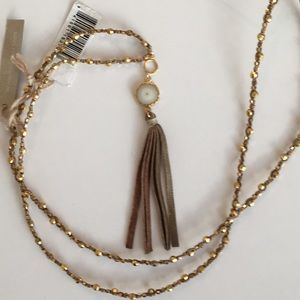 Chan Luu Long Tassel Pendant Necklace NWT